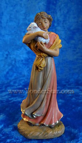 """Maia - 5"""" Fontanini Nativity Shepherdess w/ Lamb 54073"""