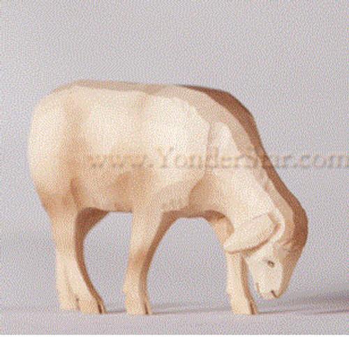 White Sheep Grazing - Huggler Nativity Woodcarving