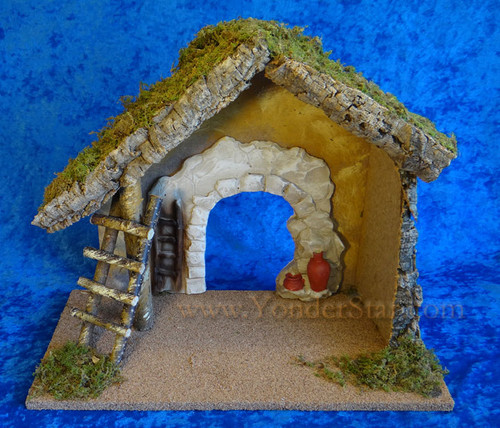 "13.75"" Wooden Stable for 7.5"" Fontanini Nativity 50850"