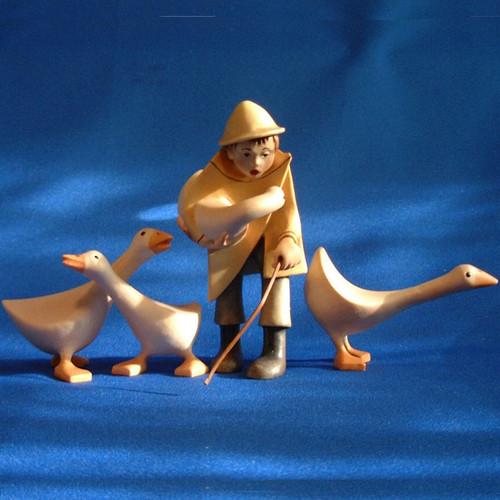 Kastlunger Goose Herder for LEPI Kastlunger Wooden Nativity