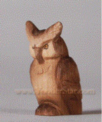 Owl - Huggler Nativity Woodcarving - 14cm Scale