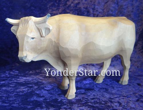Standing Ox Facing Left - Huggler Nativity Woodcarving