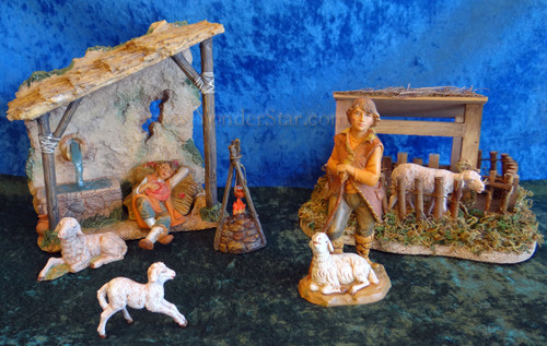 "Shepherds' Shelter Scene - 5"" Fontanini Nativity Shepherds"