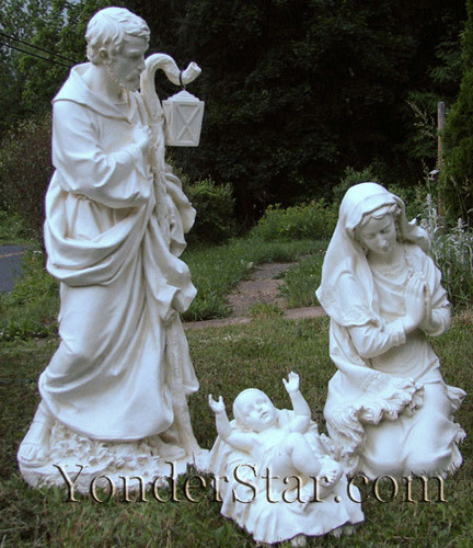 Outdoor Nativity Set Holy Family Ivory Statues