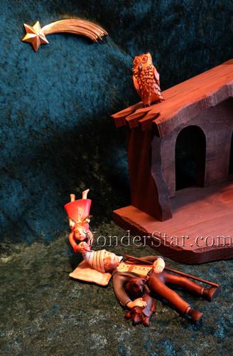 Kastlunger Sleeping Shepherd Scene LEPI Kastlunger Wood Nativity