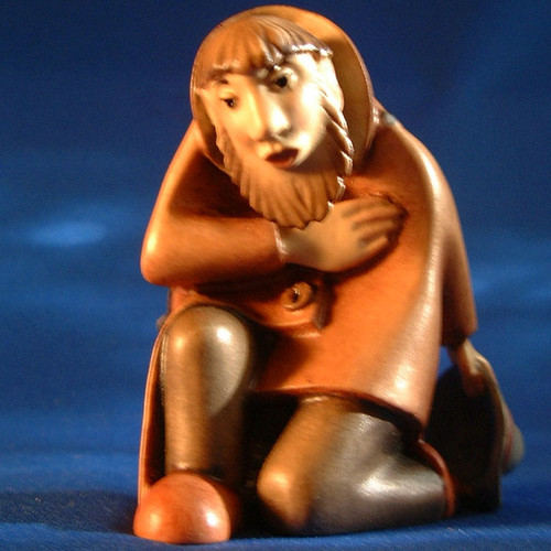 Kastlunger Shepherd Kneeling for LEPI Kastlunger Wooden Nativity
