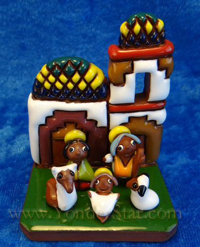 "2.5"" Tiwanaku Nativity Scene from Bolivia"