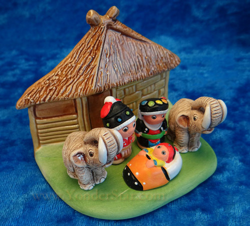 "2.5"" Thai Global Nativity Scene Peru"