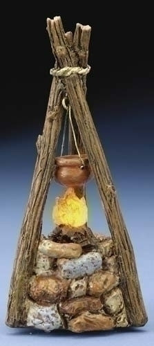 "Lighted Cooking Fire - 5"" Fontanini Nativity Accessory 54322"