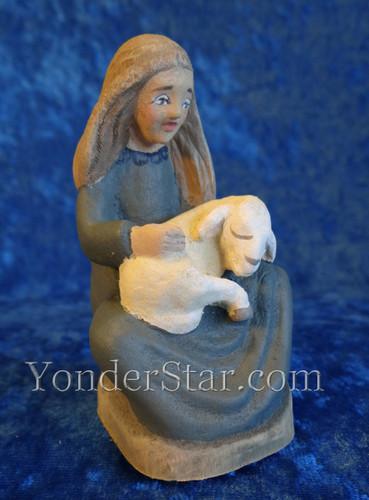 Girl with Sheep Henning Norwegian Nativity