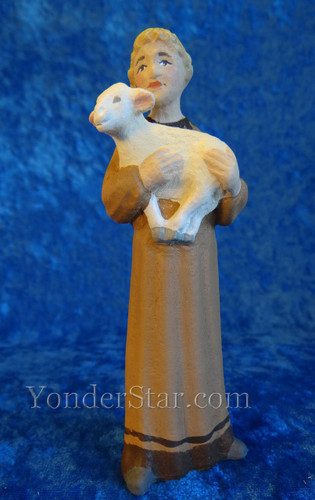 Boy with Sheep Henning Nativity Norway