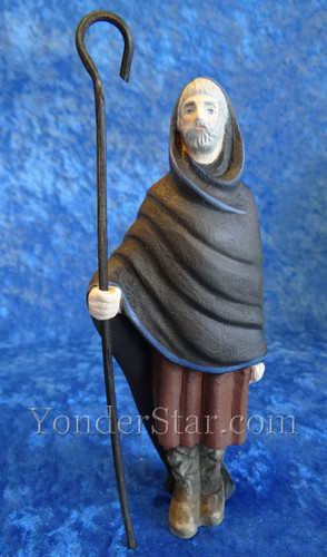 Shepherd with Hood and Crook Henning Wooden Nativity