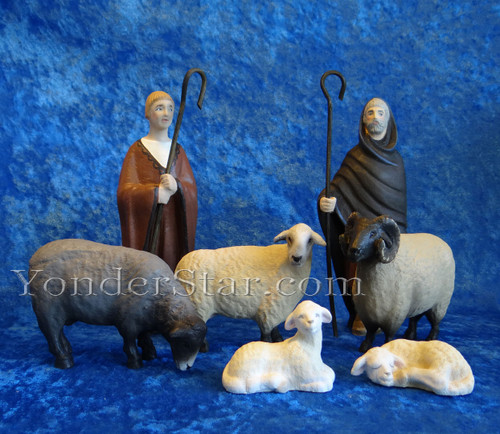 Henning Norwegian Nativity Shepherds and Sheep