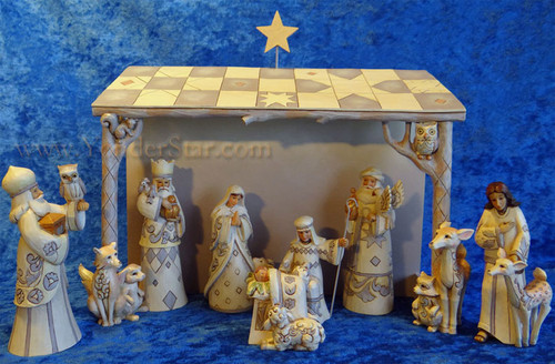 White Woodland Nativity by Jim Shore