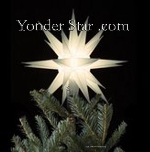 "12"" Moravian Star Tree Topper - White Lighted"