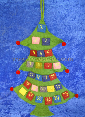 Large Advent Calendar Tree