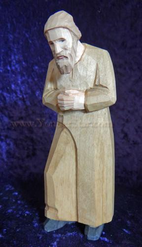 Joseph Leaning in Prayer - Huggler Nativity Woodcarving