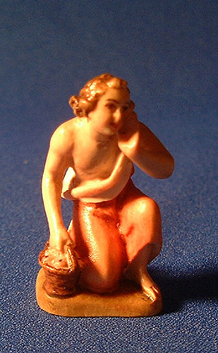 Boy Kneeling Reindl Italian Handcarved Wood