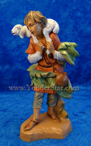 "Gabriel - 5"" Fontanini Nativity Shepherd with Sheep 72551"