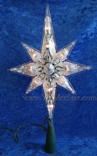 "10.75"" Polar Star Lighted Tree Topper"