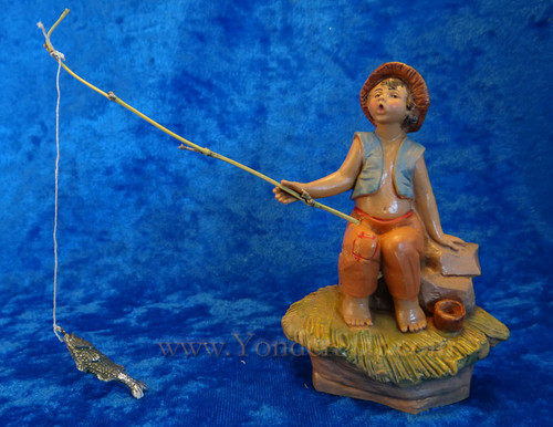 "Jada - 5"" Fontanini Nativity Boy Fishing 59800"