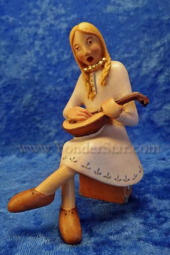 Kastlunger Young Woman w Lyre for LEPI Kastlunger Wooden Nativity