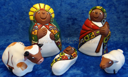 "4"" Aymara Nativity Set from Bolivia"