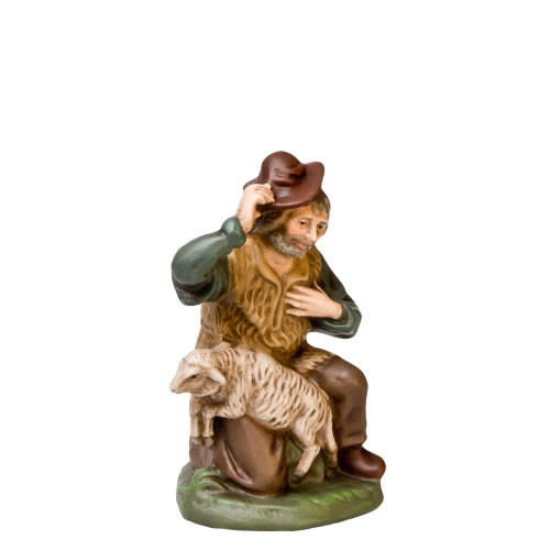 Marolin German Nativity Kneeling Shepherd 12 cm Scale