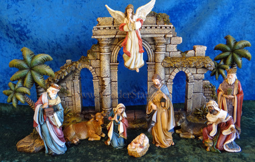 "6"" Joseph Studio Nativity 11 Pieces and Stable"