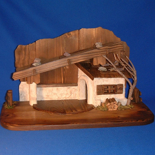 Wooden Stable for LEPI Reindl Nativity : Pre-Order