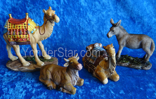 "7"" Real Life Nativity Ox, Donkey and Camels"