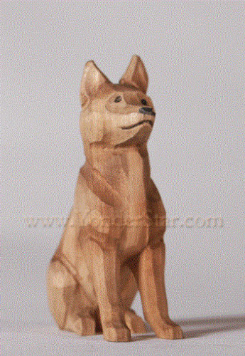 Shepherd Dog - Huggler Wooden Nativity Switzerland