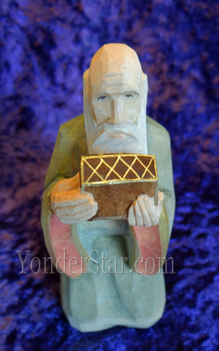 Wiseman Balthasar - Huggler Nativity Woodcarving