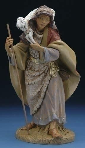 """Gabriel - 18"""" Fontanini Nativity Shepherd Boy with Sheep 53720"""