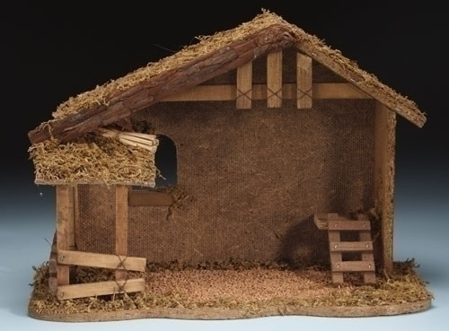 "10.5"" Fontanini Wooden Manger for 5"" Nativity Figures 54628"