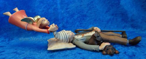 Shepherd and Angel LEPI Kastlunger Wooden Nativity