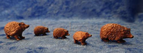 Hedgehog Family LEPI Kastlunger Wooden Nativity