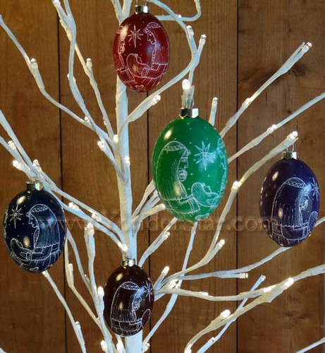 Goose Egg Nativity Christmas Ornament Made in USA