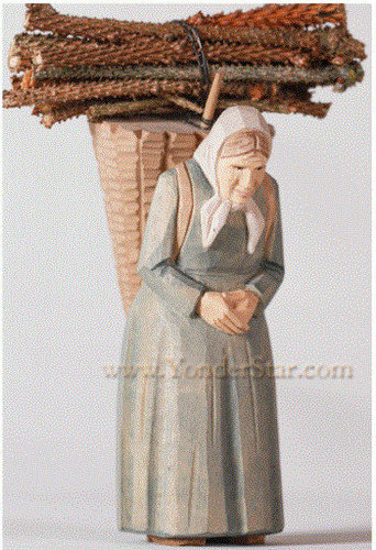 Old Woman with Basket and Bundle - Huggler Nativity
