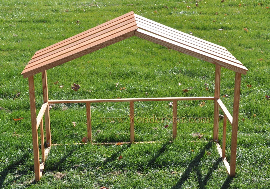 Wooden Stable For Large Outdoor Nativity Set ...