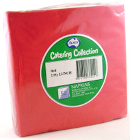 Red Luncheon Napkins - Pkt 50