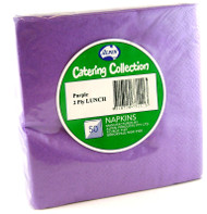 Purple Luncheon Napkins - Pkt 50