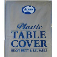Silver Plastic Table Cover - Round