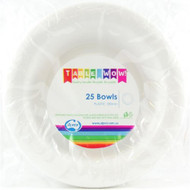 White Plastic Bowls - Pkt 25 x 180mm