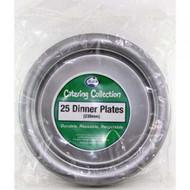 Silver Plastic Plate - Pkt 25 x 23cm