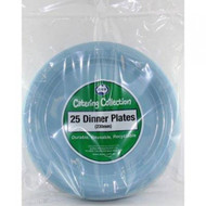 Light Blue Plastic Plate - Pkt 25 x 23cm