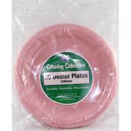 Light Pink Plastic Plate - Pkt 25 x 23cm
