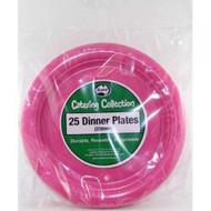 Hot Pink Plastic Plate - Pkt 25 x 23cm