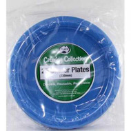 Royal Blue Plastic Plate - Pkt 25 x 23cm