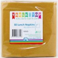 Gold Luncheon Napkins - Pkt 50